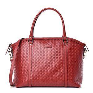 Gucci Soft Microguccissima Dome Satchel in Red